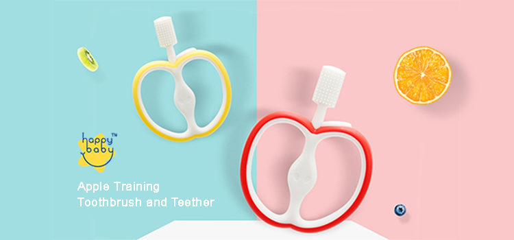 Happy Baby Apple Training Toothbrush & Teether