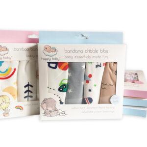 Bandana Dribble Bibs-4pack
