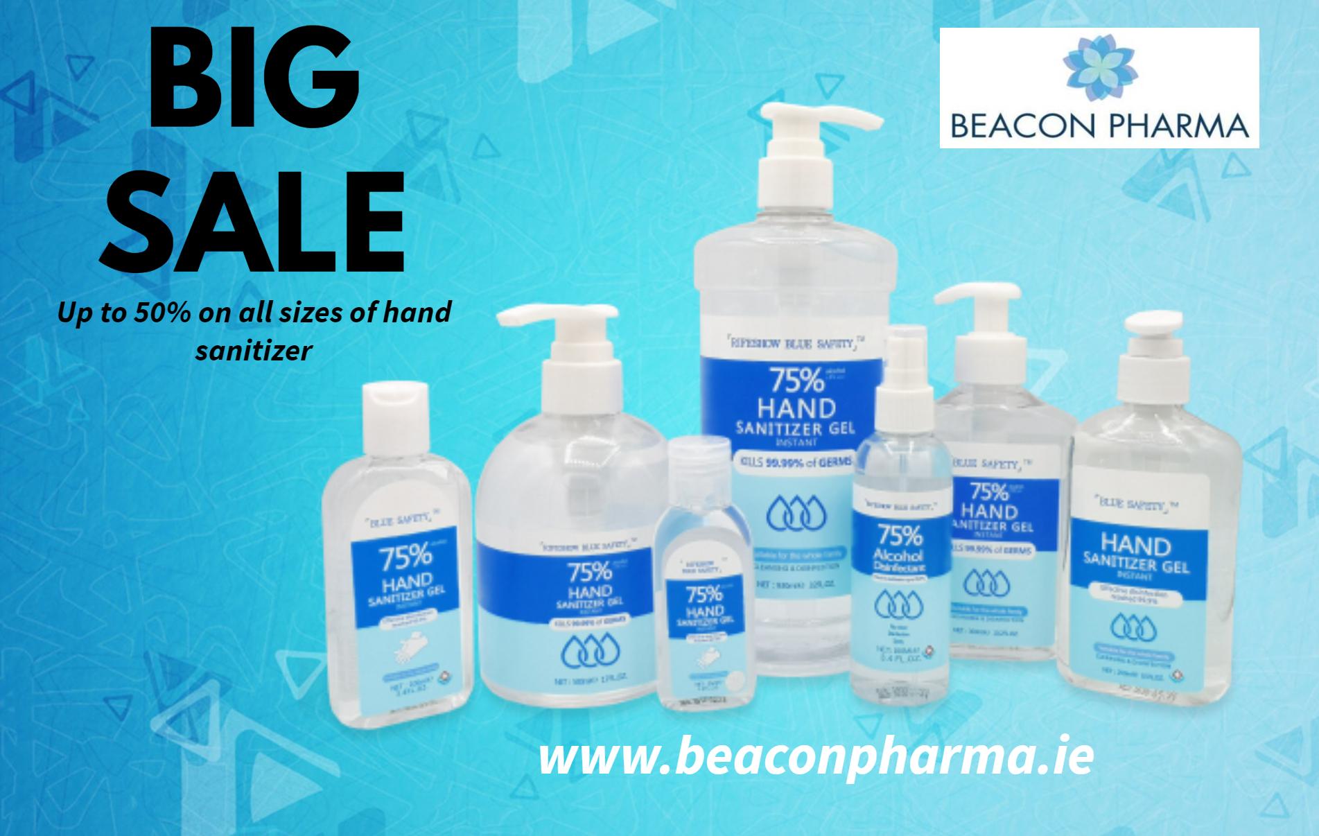 Hand Sanitizer 50 percent off